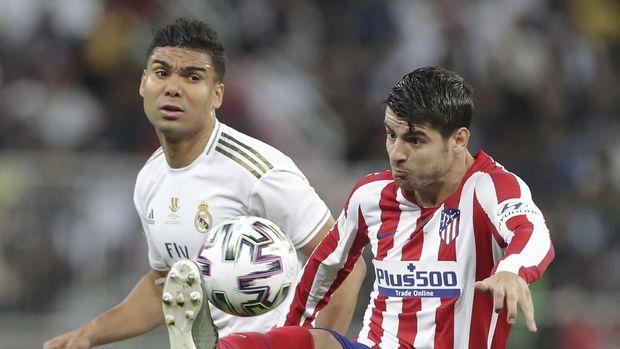 Real Madrid Vs Atletico Madrid di babak pertama tuntas tanpa gol