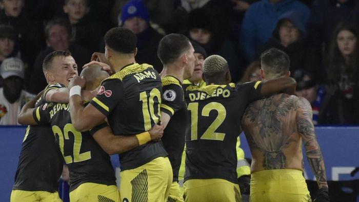 Southampton gantian menang di kandang Leicester setelah dibantai 0-9 Oktober lalu (Rui Vieira/AP Photo)