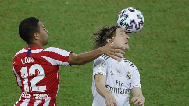 Madrid dan Atletico bermain imbang di waktu normal.