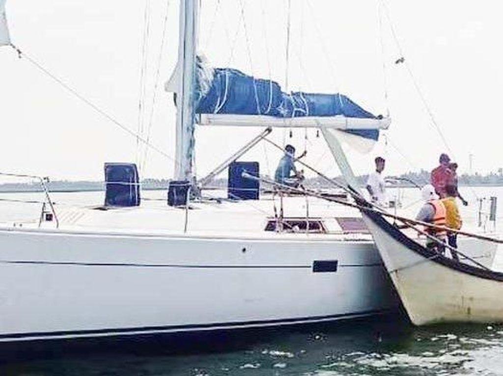 Yacht Ditemukan Terombang-ambing di Aceh Utara, Diduga Milik WNA