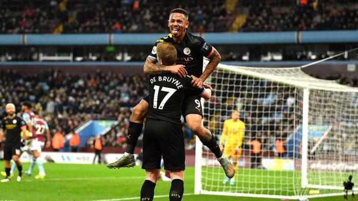 Manchester City menang telak atas Aston Villa. Foto: Justin Setterfield/Getty Images