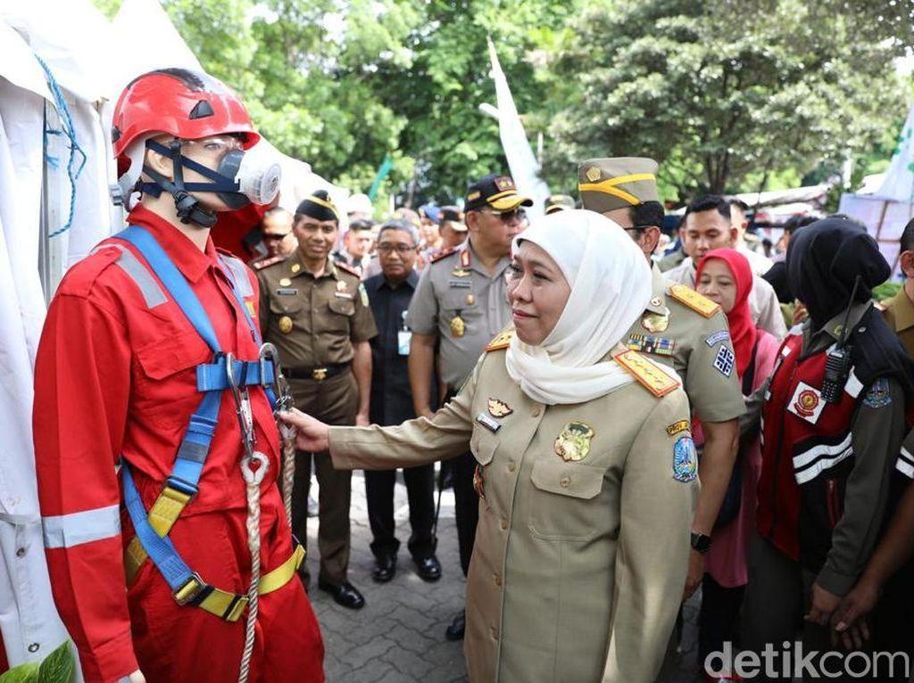 Kiat Gubernur Khofifah Minimalkan Kecelakaan Kerja di Jawa Timur