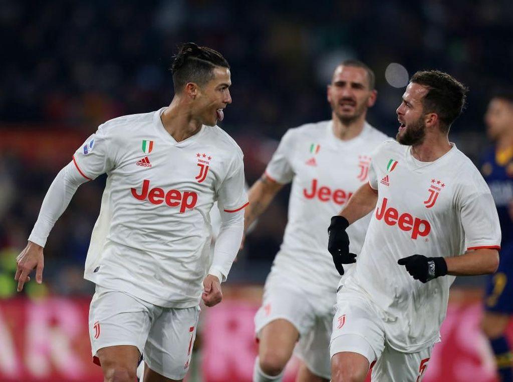 Tekuk Roma 2-1, Juventus Geser Inter dari Puncak Klasemen