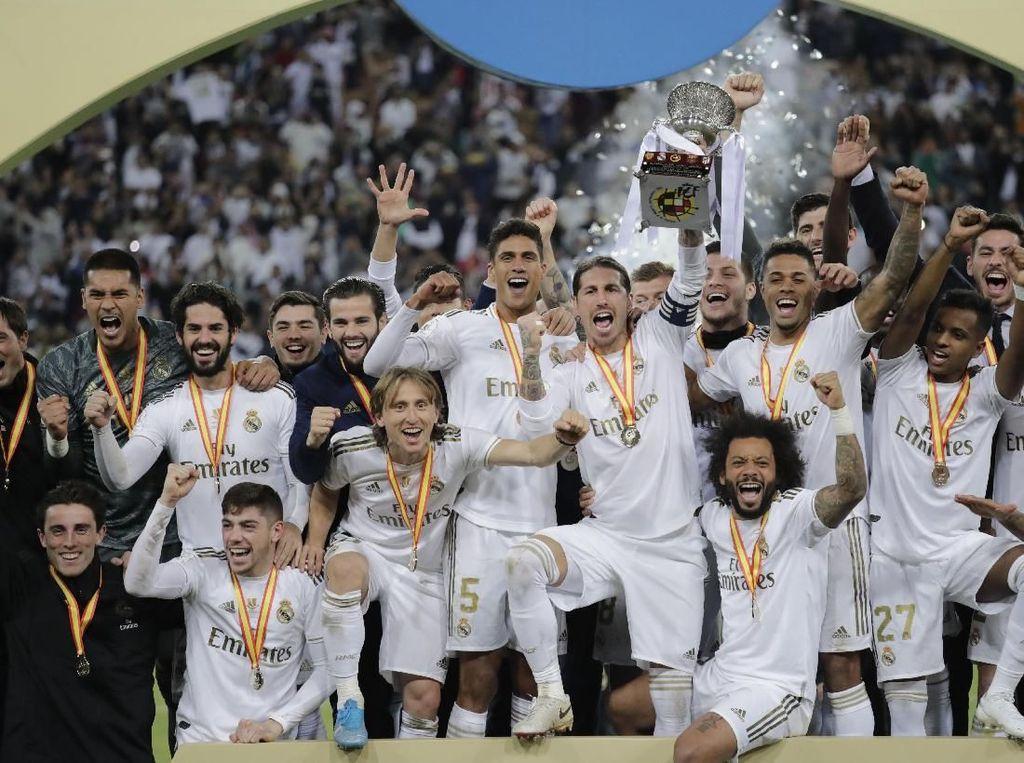 Video Los Blancos Juara Piala Super Spanyol via Adu Penalti