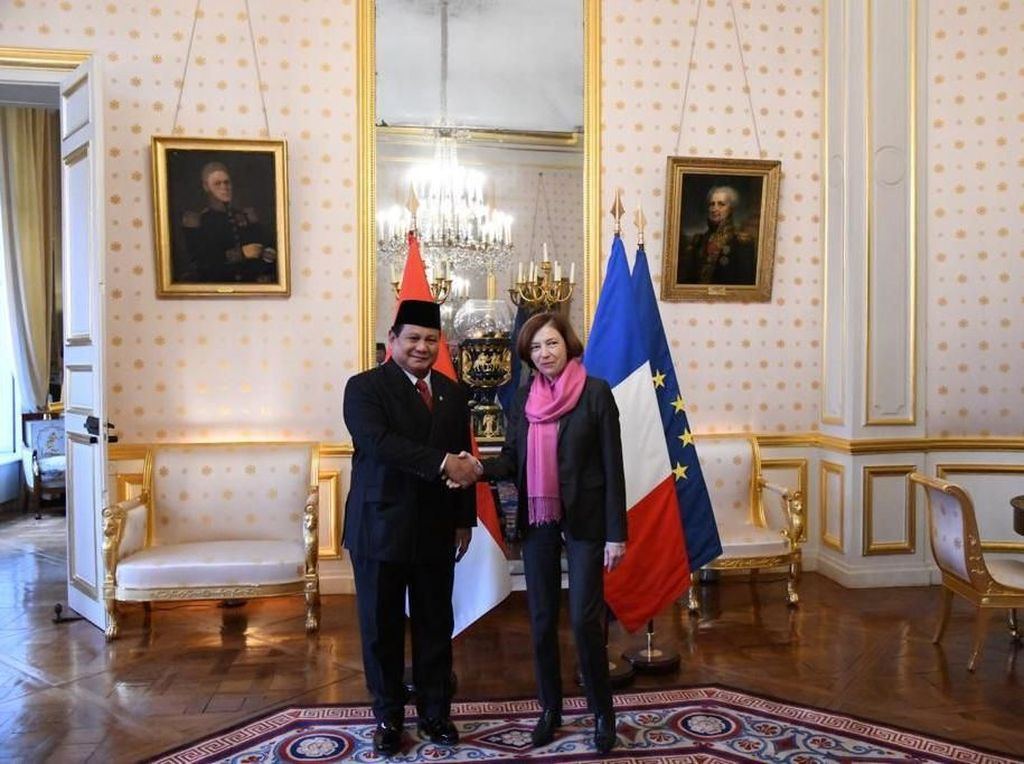 Prabowo Bertemu Menhan Prancis di Paris, Ini Isinya