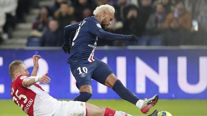 Paris Saint-Germain ditahan imbang AS Monaco dalam lanjutan Liga Prancis (Foto: AP Photo/Francois Mori)