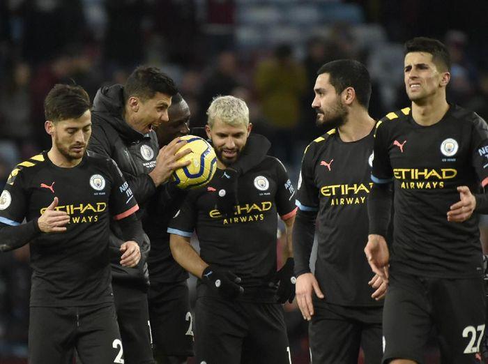 Aston Villa Vs Manchester City berakhir dengan kemenangan 6-1 tim tamu (AP Photo/Rui Vieira)