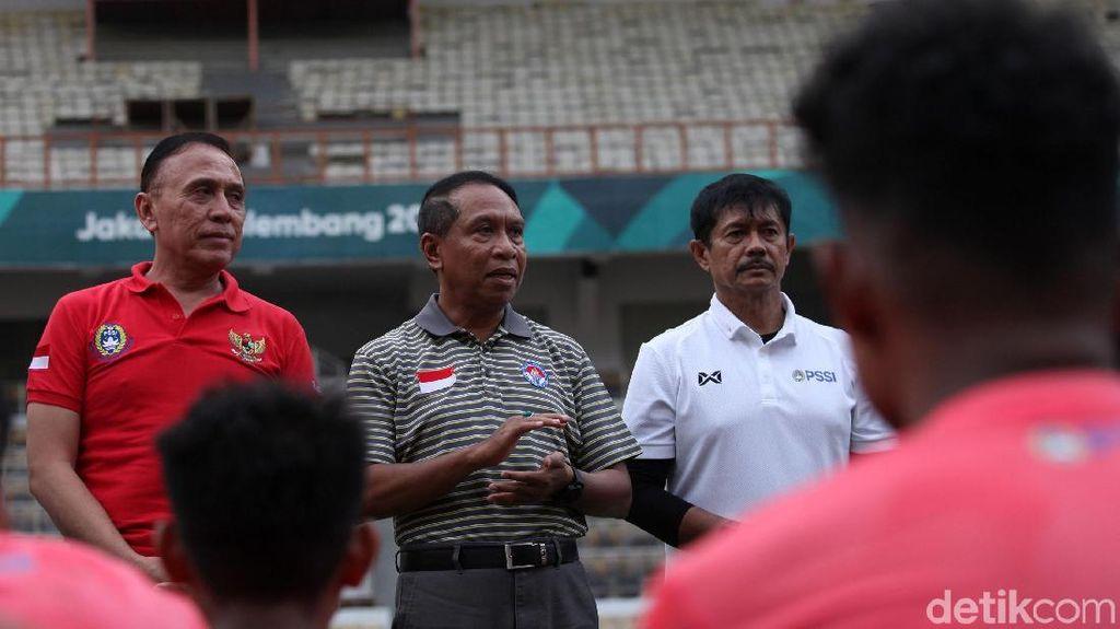 Menpora Hingga Ketum PSSI Pantau Latihan Timnas U-19