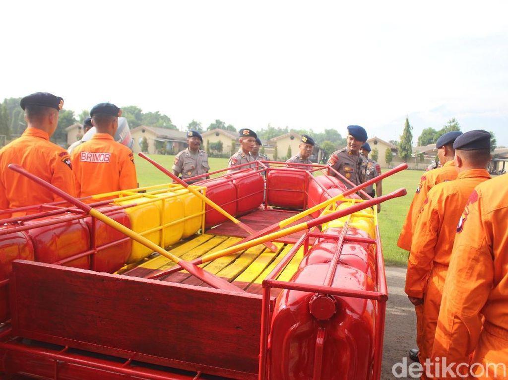 Ini Kesiapan Brimob Porong Antisipasi Bencana di 5 Kabupaten/Kota