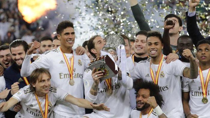 Real Madrid juara Piala Super Spanyol. (Foto: Hassan Ammar/AP Photo)