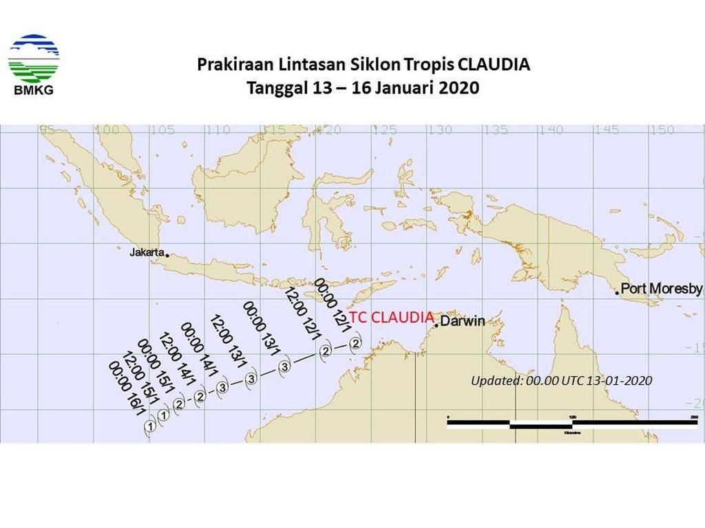 Siklon Claudia Lewati Samudra Hindia, Jatim-NTT Perlu Waspada Angin Kencang