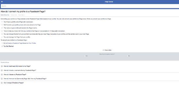Cara konversi akun pribadi menjadi halaman (page).