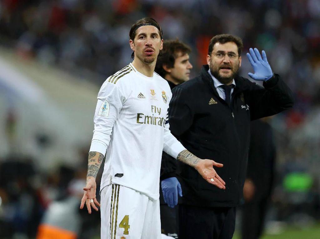 Cedera Pergelangan Kaki, Sergio Ramos Absen Dua Pekan