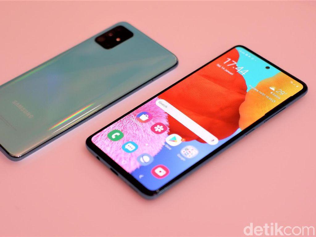 Menggenggam Galaxy A51, Ponsel Fitur Lengkap Rp 4 Jutaan