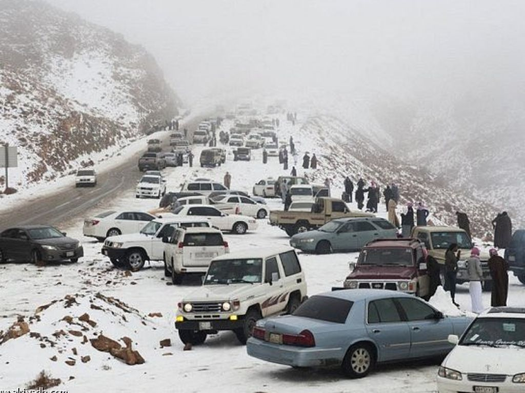 Mengenal Tabuk, Tempat di Arab Saudi yang Turun Salju