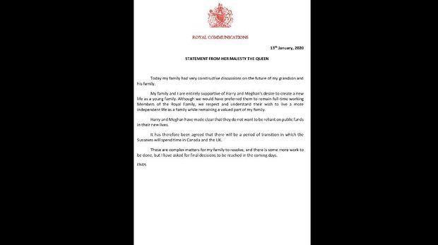 Surat Pernyataan Ratu Elizabeth II