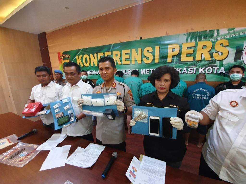 Polisi Tangkap 6 Bandar Narkoba Senilai Rp 600 Juta di Bekasi