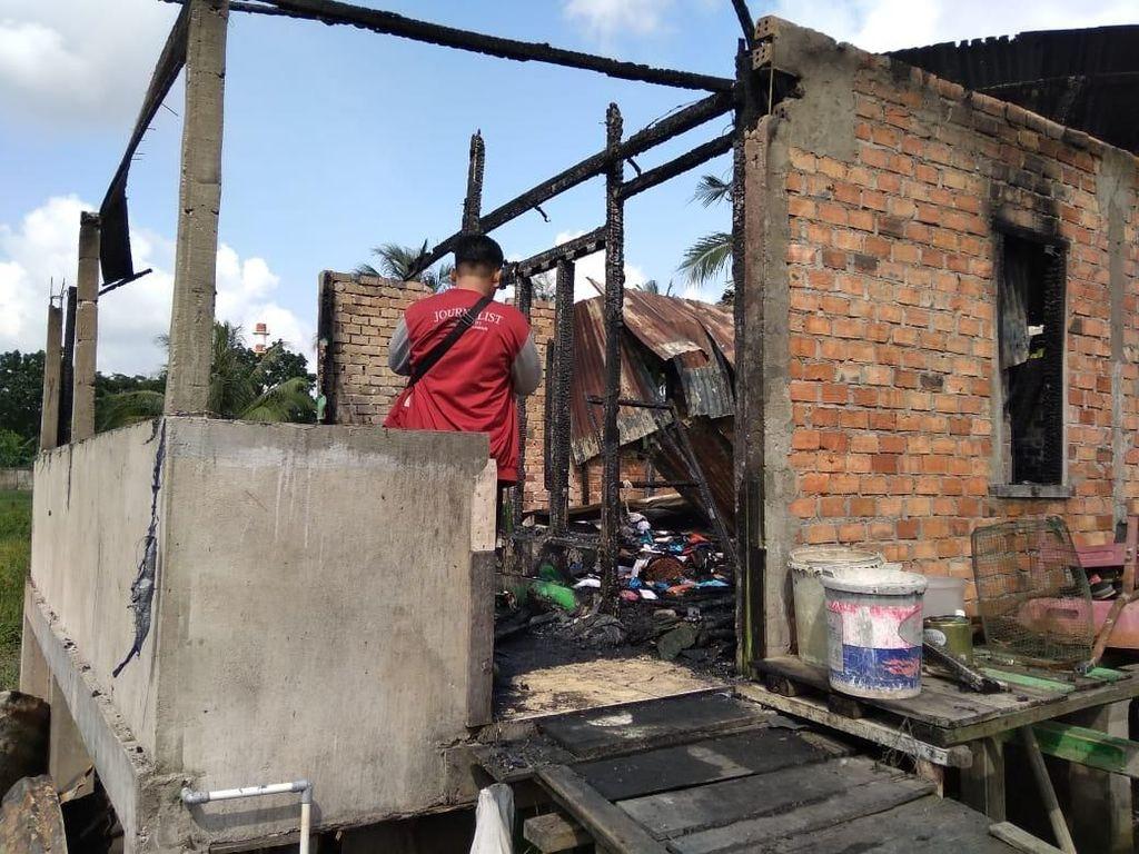 Rumah Semipermanen di Palembang Terbakar, Kakak-Adik Tewas