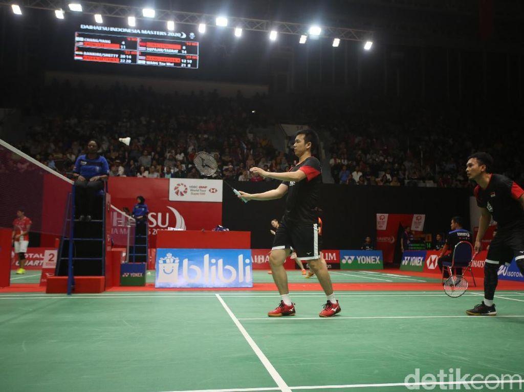 Ahsan/Hendra Jatuh Bangun demi Tiket 16 Besar Daihatsu Indonesia Masters