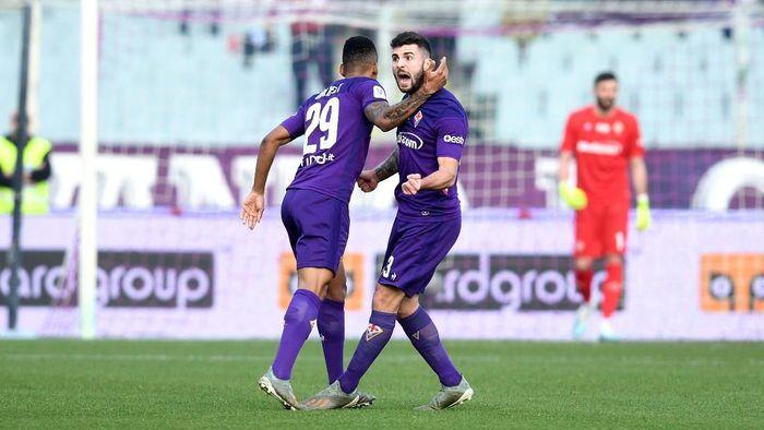 Fiorentina mengalahkan Atalanta 2-1 di 16 besar Coppa Italia, dan akan menantang Inter Milan di perempatfinal. (Foto: Jennifer Lorenzini/LaPresse via AP)