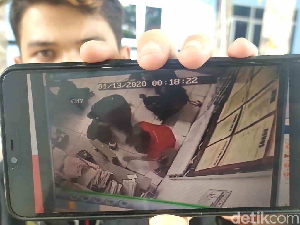 Viral Video Perampok Bergolok Satroni Minimarket di Cianjur