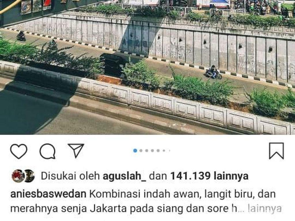 Anies Pamer Foto Langit Indah Jakarta, Dinas LH Kaitkan Polusi Udara Menurun