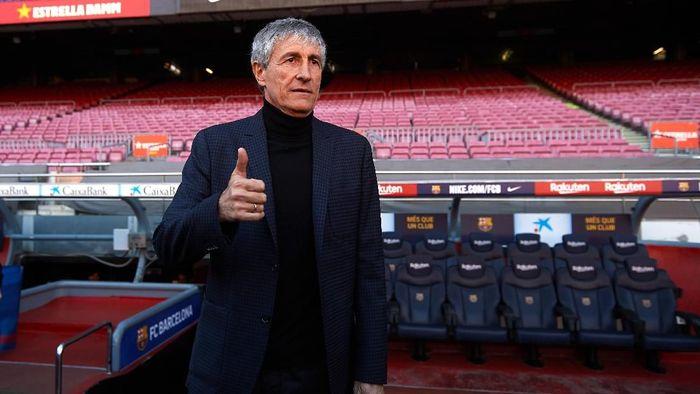 Quique Setien disebut pelatih pilihan keempat Barcelona. (Foto: Alex Caparros / Getty Images)