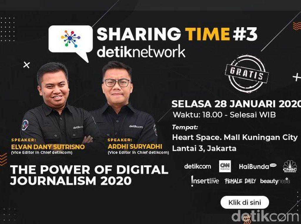 Yuk! Ikutan Sharing Time detiknetwork Soal Jurnalisme Digital 2020
