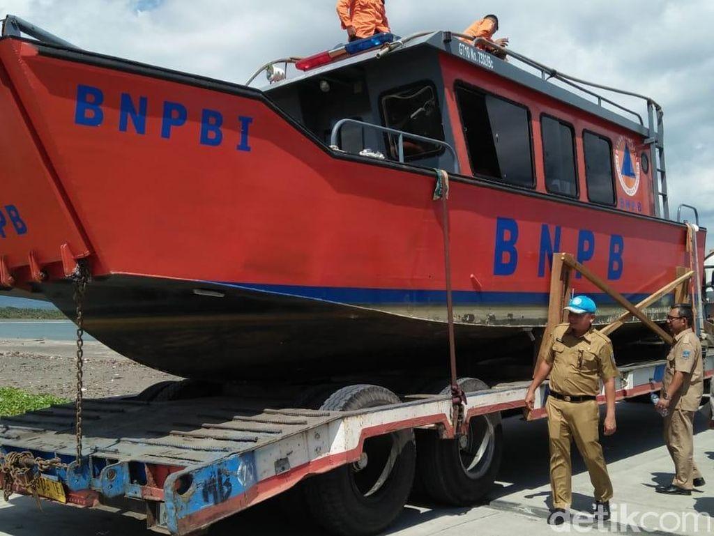BPBD Pangandaran Dapat Bantuan Kapal Evakuasi
