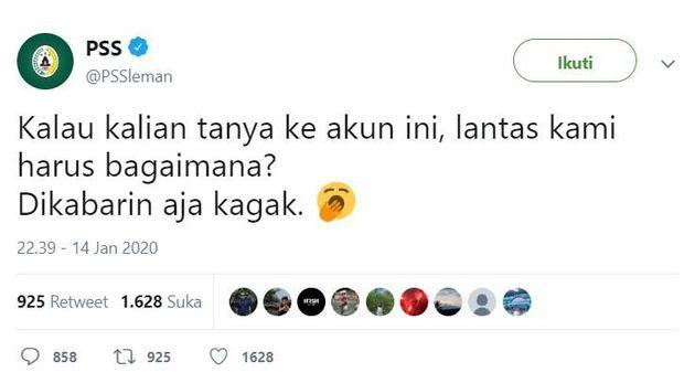 PSS Sleman Dikecam Usai Tunjuk Pelatih Baru dan Gagal Pertahankan Seto