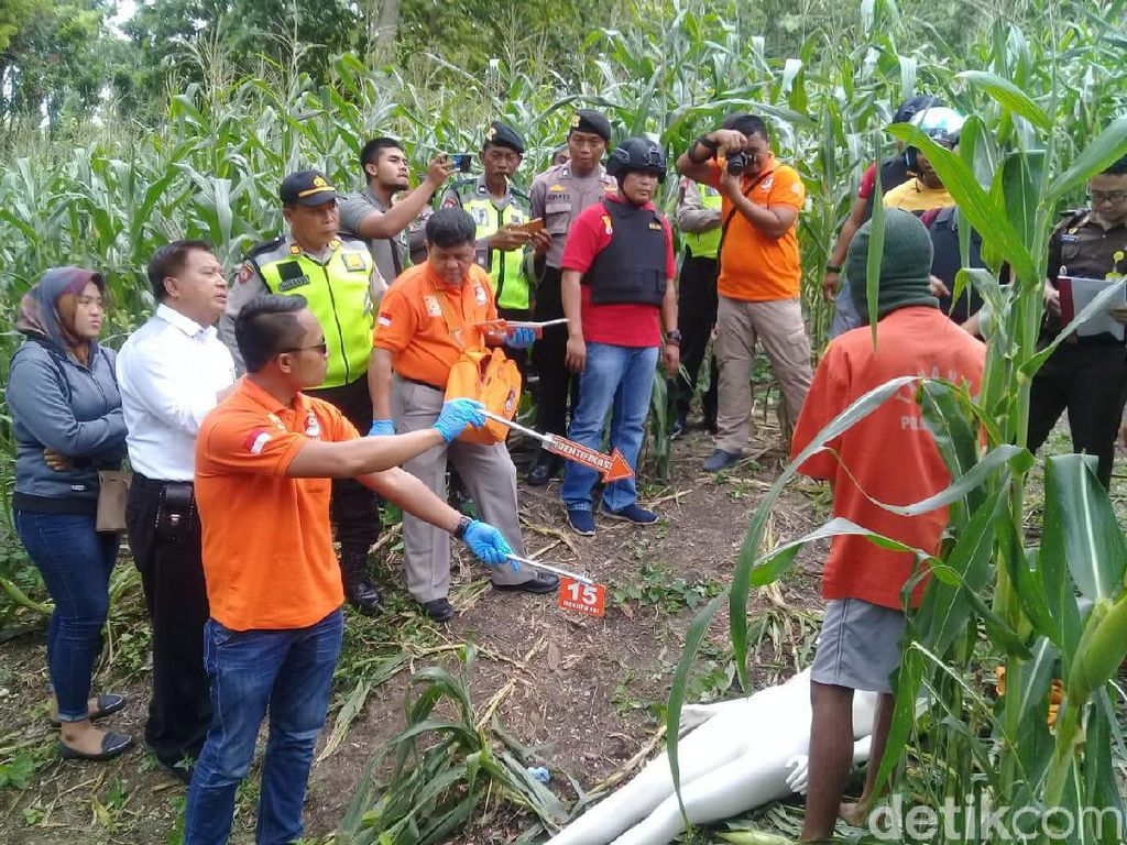 Pembunuhan Wanita di Ngawi yang Mayatnya Ditemukan Bugil Direkonstruksi