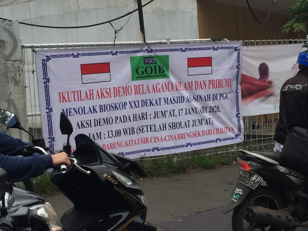 Soal Spanduk Tolak Bioskop di PGC, Polisi Imbau Ketua GOIB Tak Bikin Gaduh