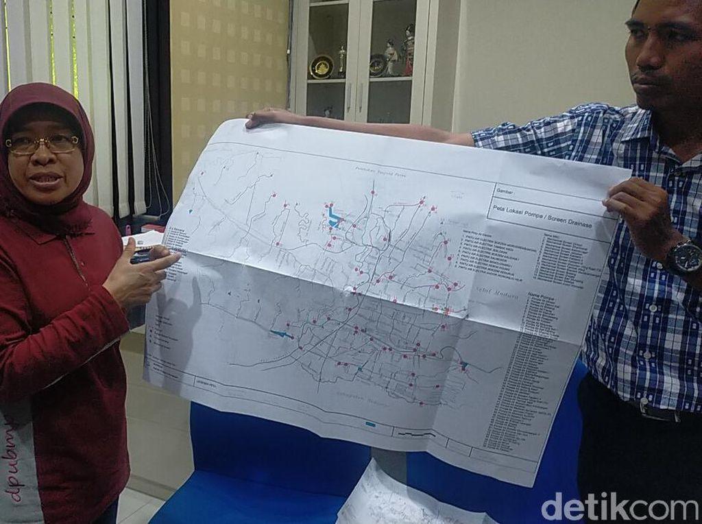 Ini yang Disiapkan Wali Kota Risma Saat Hujan Mengguyur Surabaya