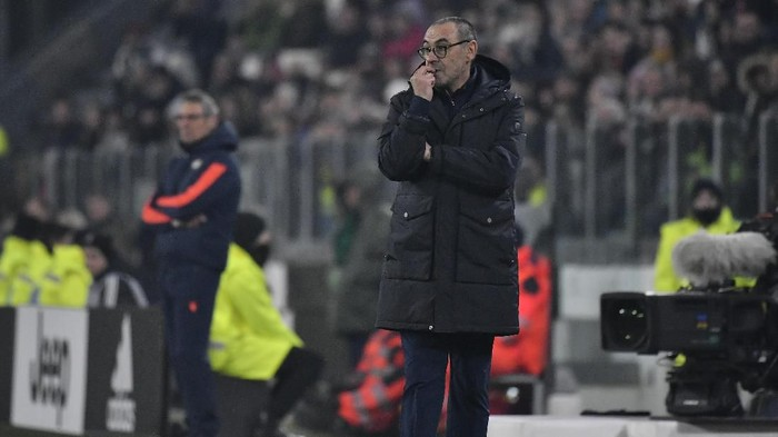 TURIN, ITALY - JANUARY 15: Maurizio Sarri Coach of Juventus FC during the Coppa Italia match between Juventus and Udinese Calcio at Allianz Stadium on January 15, 2020 in Turin, Italy. (Photo by Stefano Guidi/Getty Images)