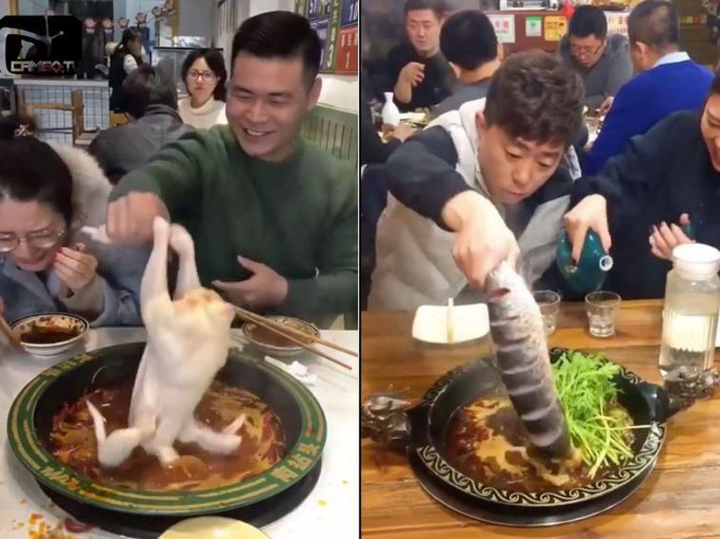 Ke Restoran Hot Pot, Orang-orang Ini Bawa Ikan dan Ayam Mentah Sendiri