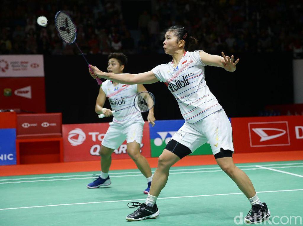 Takluk dari Malaysia, Greysia/Apriyani Tersingkir di BWF World Tour Finals