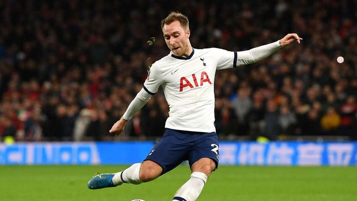 LONDON, ENGLAND - JANUARY 14: Christian Eriksen of Tottenham Hotspur during the FA Cup Third Round Replay match between Tottenham Hotspur and Middlesbrough at Tottenham Hotspur Stadium on January 14, 2020 in London, England. (Photo by Justin Setterfield/Getty Images)