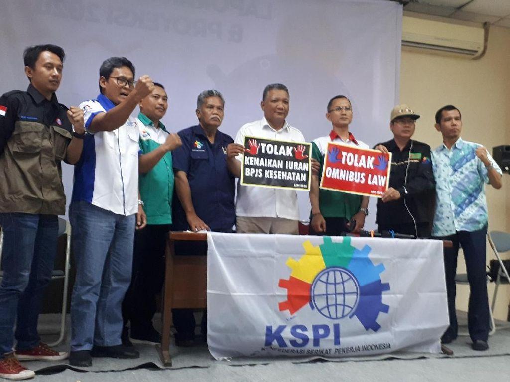 Serikat Buruh Bakal Gelar Demo Tolak Omnibus Law di DPR Lusa