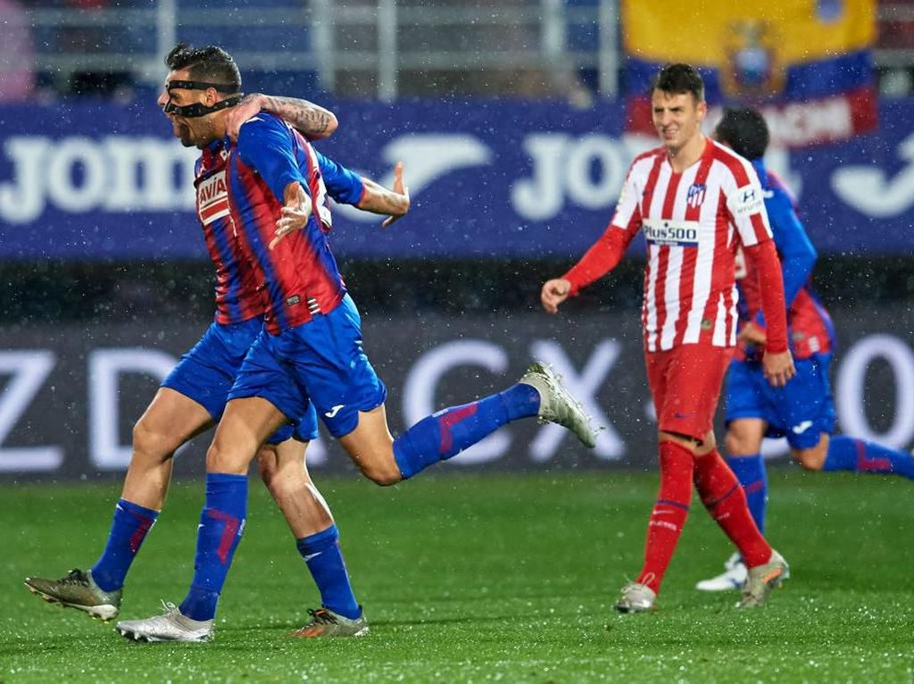 Hasil Liga Spanyol: Atletico Madrid Digebuk Eibar 0-2