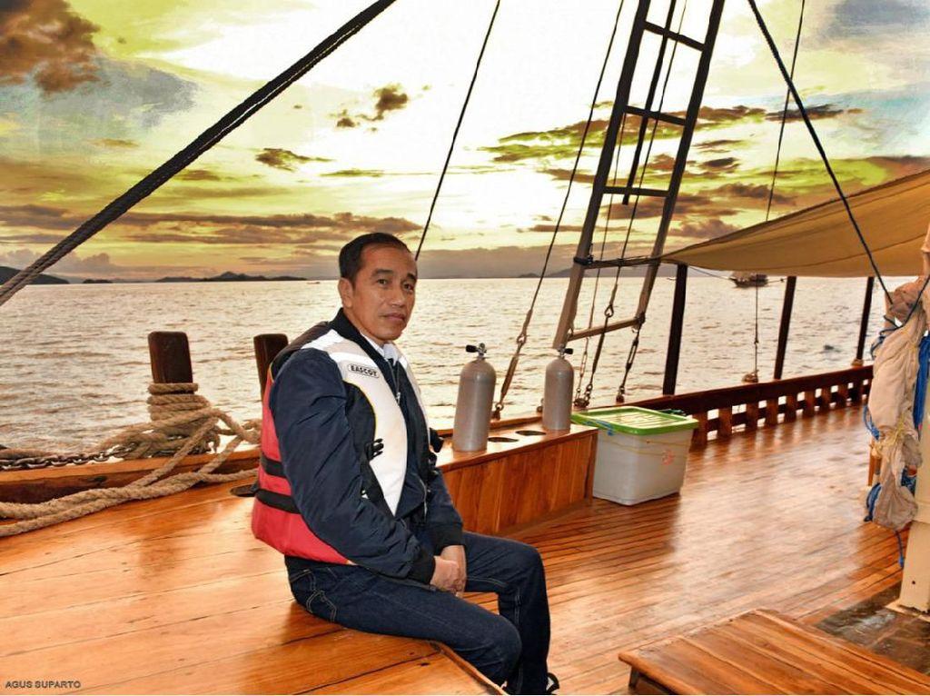 Jokowi Cek Kelaikan Kapal untuk Wisatawan di Labuan Bajo
