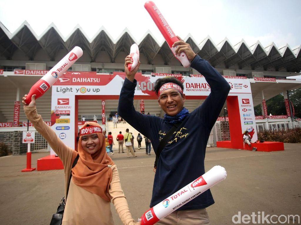 Antusias Suporter Meriahkan Final Indonesia Masters 2020
