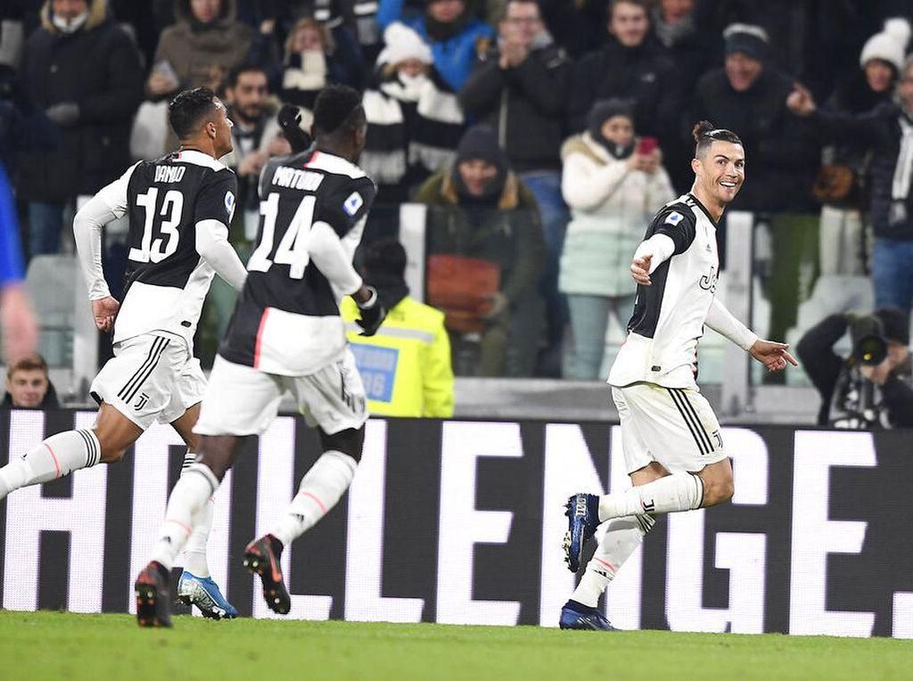 Ronaldo Bantu Juventus Singkirkan AS Roma di Coppa Italia
