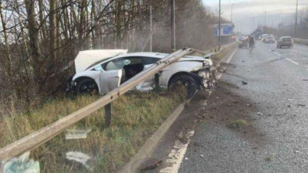 Sergio Romero Kecelakaan, Lamborghini-nya Ringsek