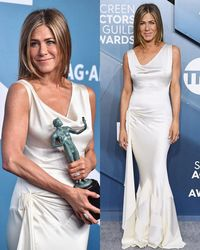 Oh No! Jennifer Anniston Tak Pakai Bra di SAG Awards