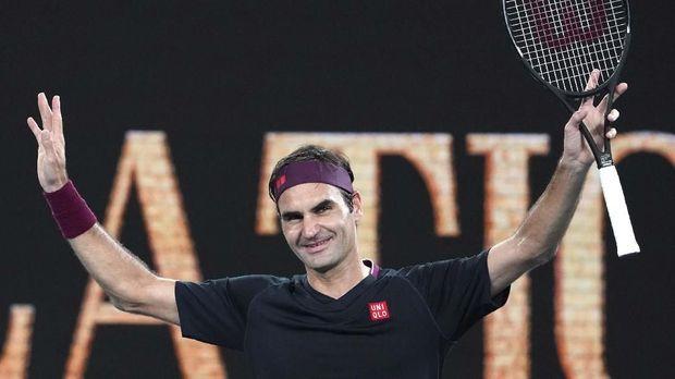 Roger Federer lolos ke semifinal Australia Terbuka.