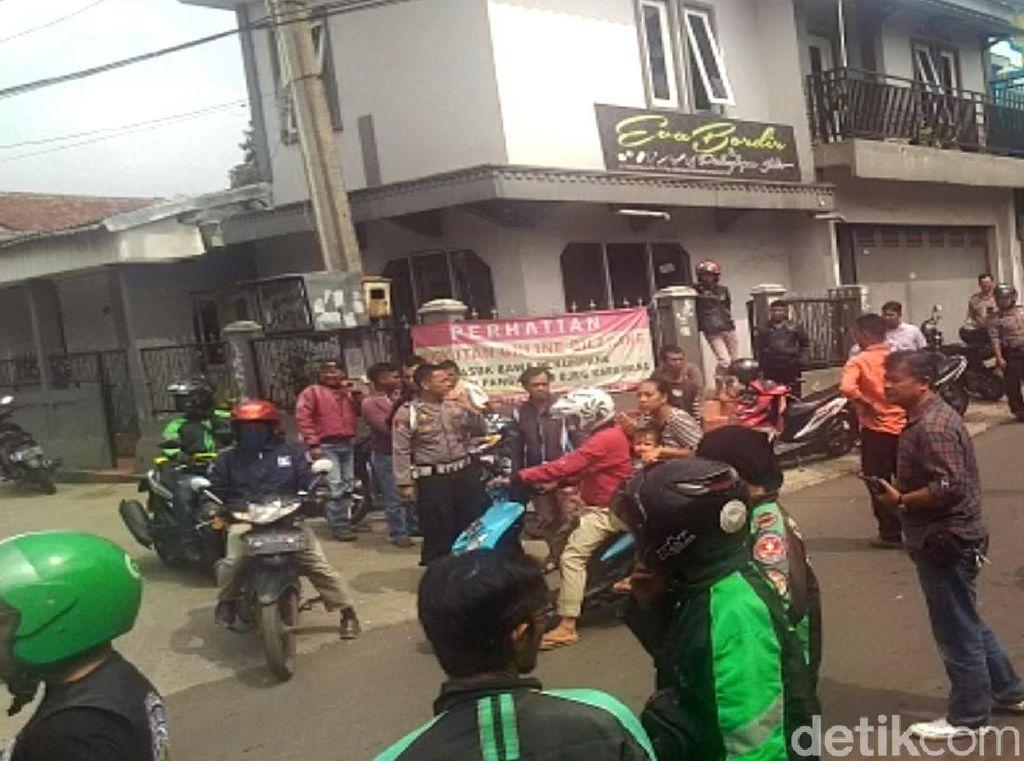 Polisi Redam Sopir Opang dan Ojol yang Nyaris Bentrok di Sukabumi