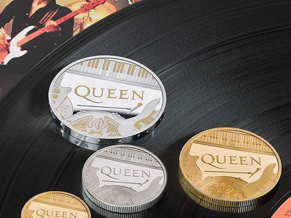 Inggris Rilis Uang Koin Edisi Band Legendaris Queen