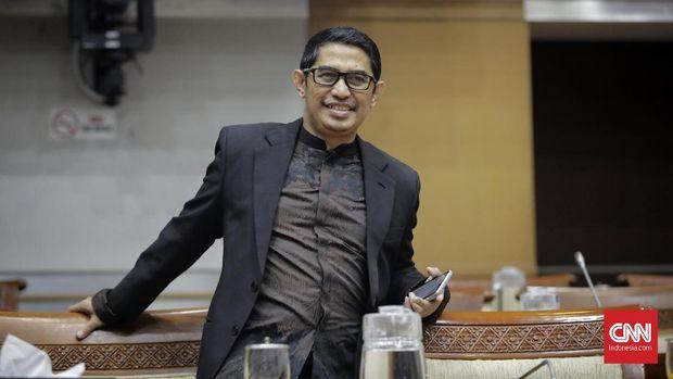 Ketua Dewan Pengawas TVRI Arief Hidayat mengikuti Rapat dengar pendapat dengan Komisi I DPR, Jakarta, Selasa, 21 Januari 2020.