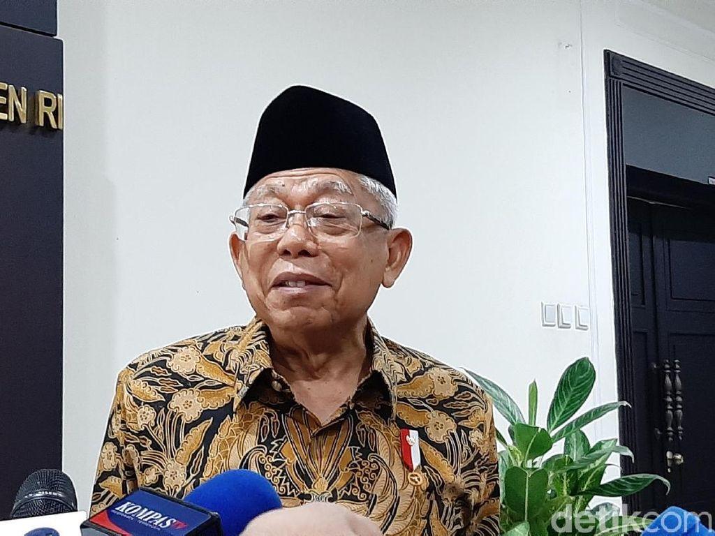Wapres Maruf Amin: Pemerintah Mohon Maaf Bahaya Corona Belum Hilang