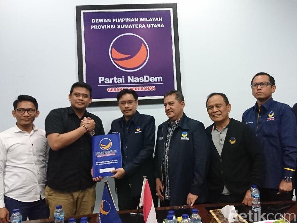 Bobby Nasution Daftar Cawalkot Medan ke NasDem